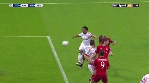 Bàn thắng duy nhất của Bayern Munich trước Benfica