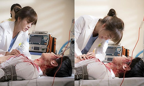 Kang Mo Yeon ra sức cứu chữa cho đại úy Yoo Shi Jin