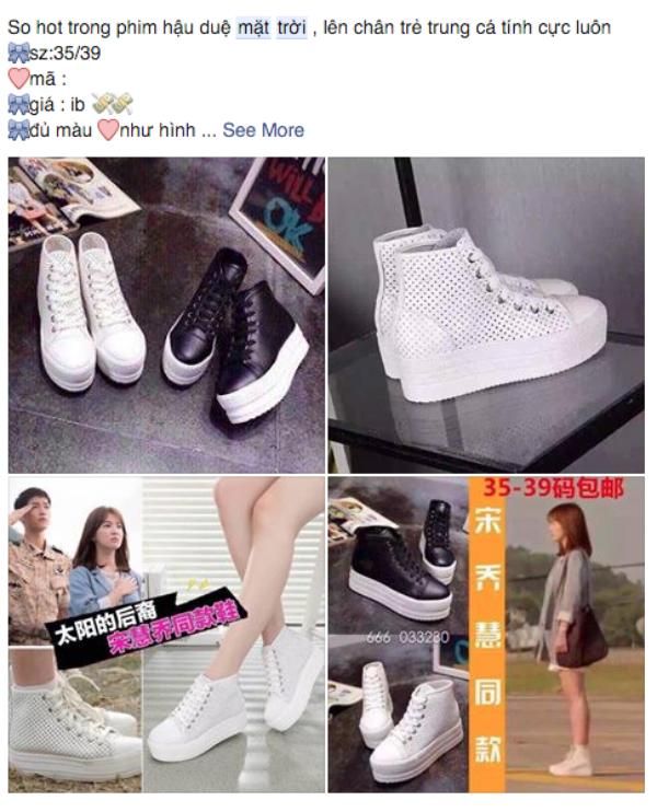 Đôi giày boot màu trắng này của chính hãng hết hàng trong vài ngày còn hàng nhái thì được bán khắp cộng đồng mạng. (Ảnh: Internet)