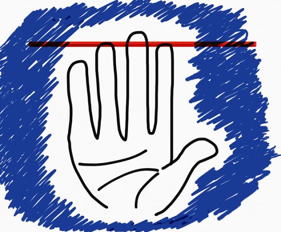 """Những người có ngón trỏ và ngón đeo nhẫn dài bằng nhau thường rất hòa nhã nhưng lại dễ """"nổi điên"""" khi bị chọc giận. (Ảnh: Internet)"""