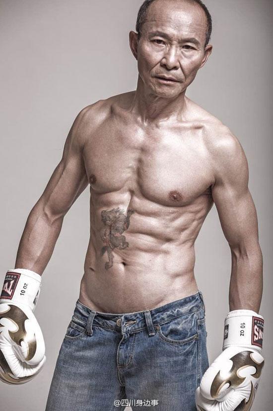 Nếu không nhìn mặt, liệu bạn có tin đây là thân hình của một người đàn ông 61 tuổi? (Ảnh: Internet)