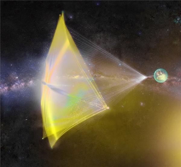 Hình ảnh mô phỏng sáng kiến nanocraft của Mark Zuckerberg. (Ảnh: Facebook)