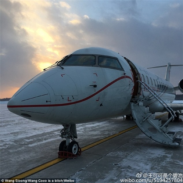 Không chỉ có thế, tháng 11/2015, Coco còn được đi nghỉ đông cùng anh chủ trên phi cơ riêng. (Ảnh: Vương Tư Thông)