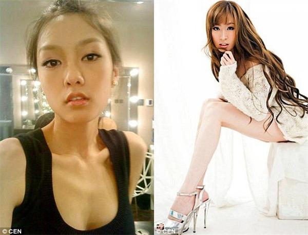 """Vương Dĩnh (ảnh trái), một người mẫu tạp chí, và Vệ Vi Nhi (ảnh phải), """"nữ hoàng chân dài"""" 1,19m của Trung Quốc, cũng từng có một thời êm ấm với chàng đại thiếu gia. (Ảnh: Internet)"""