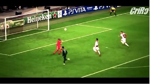 Ronaldo ấn định cú hat-trick đầu tiên ở Champions League của mình.