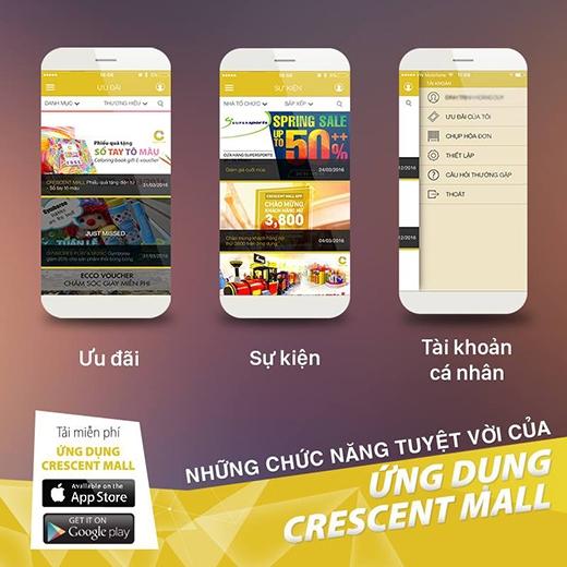 Việc ứng dụng ra đời cònlà nền tảng cho nhiều chương trình chăm sóc khách hàng sắp tới của Crescent Mall.