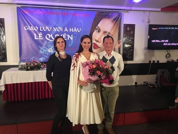 Thanh Vy - thí sinh Hoa khôi Áo dài Việt Nam 2016 diện lại bộ váy mà Lệ Quyên từng mang đến Ba Lan để tham dự Hoa hậu Siêu quốc gia 2015.