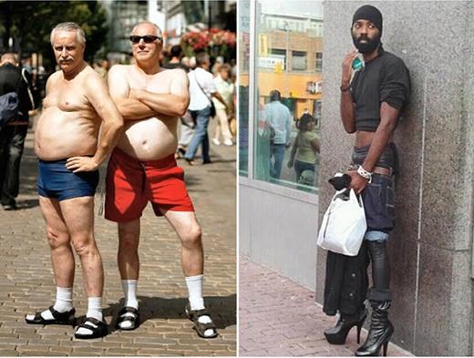 Khi thời trang không còn ranh giới giữa già-trẻ, gái-trai. (Ảnh: Internet)