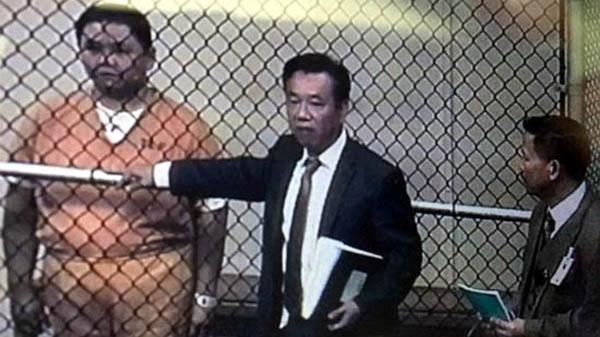 Hình ảnhMinh Béo trong phiên điều trần diễn ra vào rạng sáng ngày 16/4 (giờ Việt Nam). (Ảnh:PV Thanh Lan) - Tin sao Viet - Tin tuc sao Viet - Scandal sao Viet - Tin tuc cua Sao - Tin cua Sao
