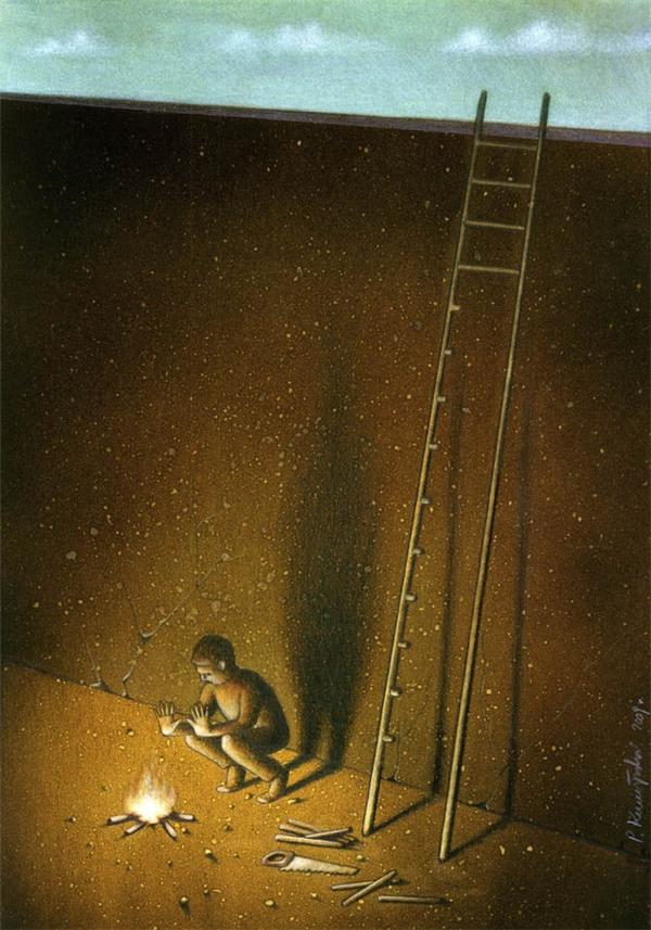 Người ta thường vì cái lợi, sự thỏa mãn trước mắt mà tự tay hủy diệt đường sống sau này của mình.(Ảnh: Internet)