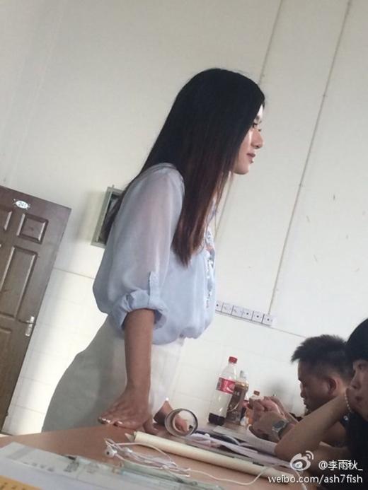 Hình ảnh đứng lớp của cô giáo Du.