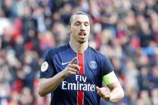 Zlatan Ibrahimovic sẽ hết hợp đồng với PSG trong mùa hè này