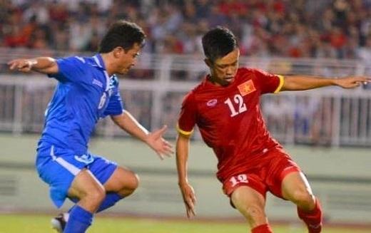 Trần Phước Thọ từng ra sân trong đội hình U23 Việt Nam đá giao hữu với U23 Uzbekistan vào tháng 3/2015.