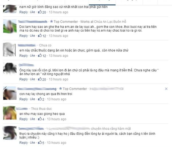 Nhiều bình luận bức xúc của cư dân mạng.