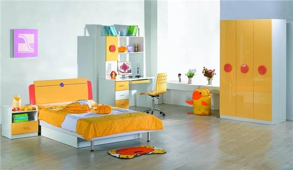 """Tông màu cam """"đẹp rạng ngời mà không chói lóa"""" trên nền trắng và xám cũng là một ý tưởng thú vị. (Ảnh: Internet)"""