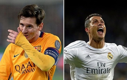 Giá của Messi (trái) cao hơn Ronaldo.
