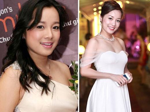 Minh Hương bây giờ (phải) thậm chí còn đẹp, quyến rũ và sang trọng hơn chính cô của 9 năm về trước.