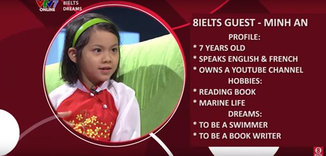Minh An là khách mời của chương trình 8IELTS trên kênh truyền hình giáo dục.