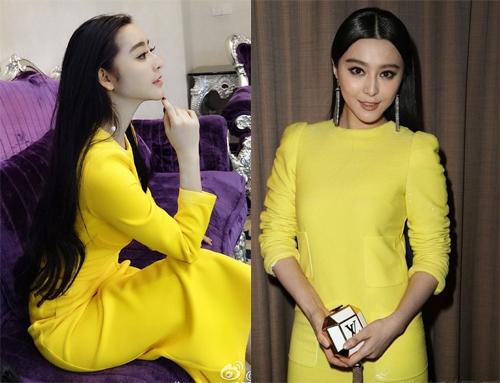 Khi diện những bộ trang phục giống Phạm Băng Băng, người ta còn không thể phân biệt được đâu là cô diễn viên họ Phạm, đâu là Hà Thừa Hy. (Ảnh: Internet)