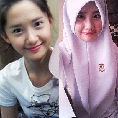 Nhiều dân cư mạng nhận xét rằng cô gái này chỉ giống YoonA nhất vào những lúc cười mỉm. (Ảnh: Internet)
