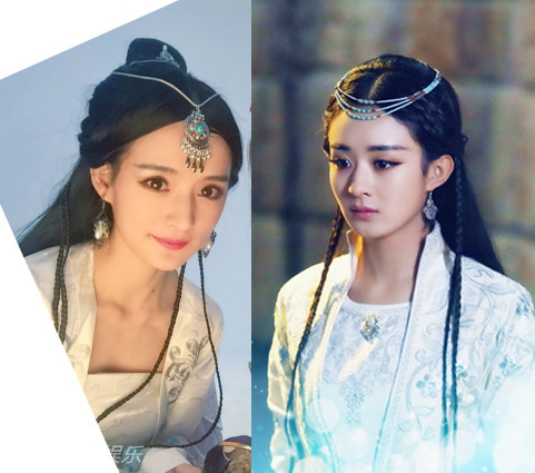 Thậm chí, với cách hóa trang tương đồng, cô và Triệu Lệ Dĩnh được cho là rất giống nhau. (Ảnh: Internet)