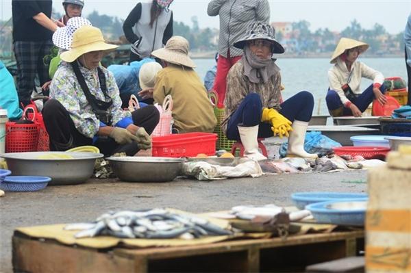 Nhiều người bán cá tại Quảng Bình cho biết, thông tin cá chết bất thường khiến người dân hạn chế việc mua loại thủy hải sản này. Các loại cá đánh bắt xa bờ về cũng không tiêu thụ được. Những loại nổi tiếng tươi ngon ởQuảng Bìnhnhư tôm, mực, ghẹ... cũng bị ế hàng.