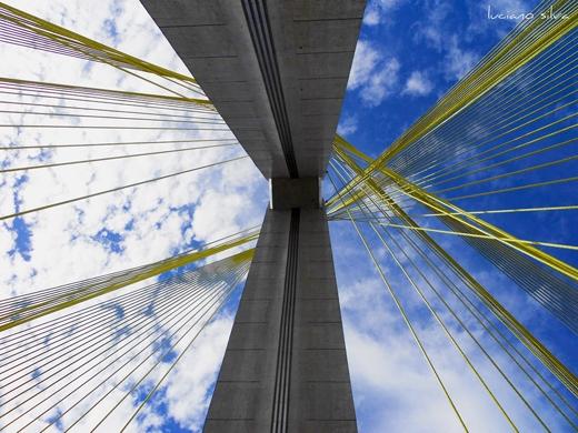 Đây là cây cầu duy nhất trên thế giới có hai tầng đường quay sang hai phía, được nâng đỡ bởi một cột trụ bê tông.(Ảnh: Internet)