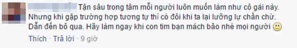 Dòng bình luận của T.N. (Ảnh: Ảnh chụp màn hình từ FBNV)