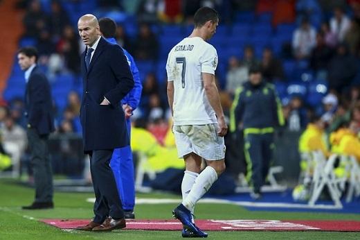 Zidane không có gan để rút Ronaldo khỏi sân sớm.