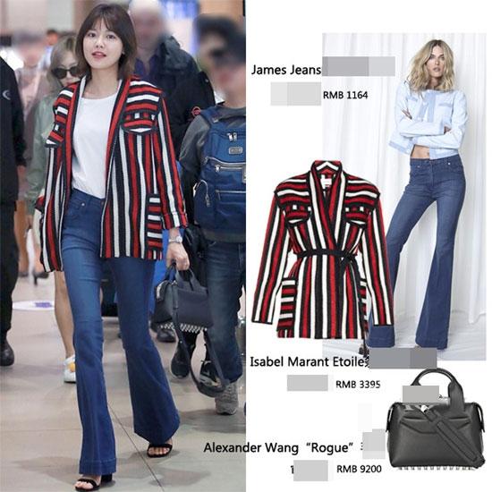 Với những cô nàng ưa chuộng vẻ ngoài thanh lịch, hiện đại thì bộ trang phục này của Sooyoung sẽ là một gợi ý tuyệt vời. Tổng giá trị của chúng tầm 21 triệu đồng.