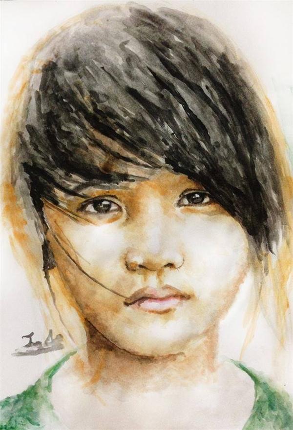 Các cô gái đẹp lung linh qua nét vẽ chì màu của chàng trai 9x