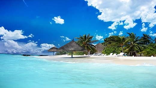 Bãi biển xanh như ngọc ở Jamaica.(Ảnh: Internet)