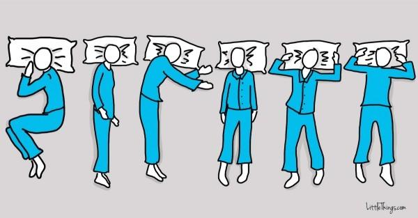 Bạn hãy điểm qua các tư thế ngủ này để xem mình thuộc tuýp người nào nhé. (Ảnh: Maya Borenstein)