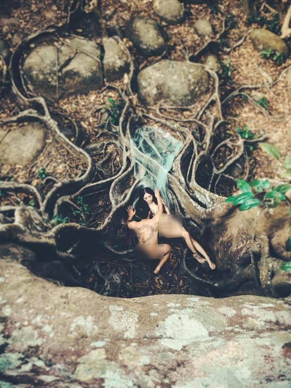 Xôn xao hậu trường bộ ảnh cưới nude táo bạo ở Đà Nẵng