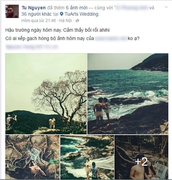 """Một cặp đôi tại Đà Nẵng đã """"mạnh dạn"""" nude toàn tập trong bộ ảnh cưới của mình. (Ảnh: Internet)"""