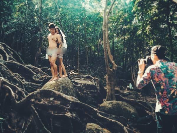 Những bộ ảnh cưới bị ném đá tơi tả vì khoe thân phản cảm