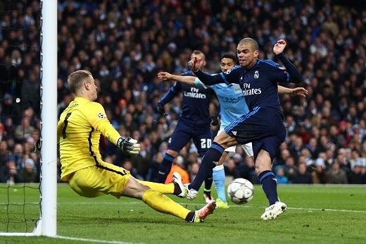Không có Ronaldo, Real Madrid thất bại trong việc xuyên thủng mảnh lưới Manchester City