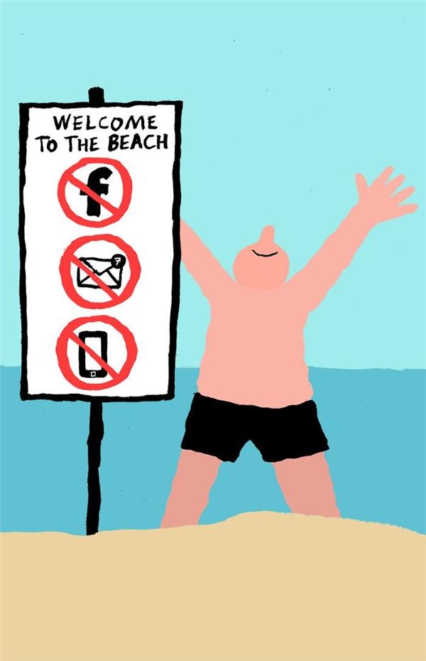 Một ngày nào đó, ngay cả bãi biển cũng sẽ có biểncấm như thế này. (Ảnh: Internet)