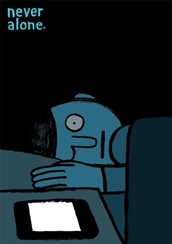 Bạn sẽ không cô đơn vì vẫn còn có điện thoại. (Ảnh: Internet)