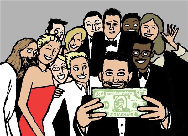 Tấm ảnh selfie tại Oscar một thời gây sốt cộng đồng mạng! (Ảnh: Internet)