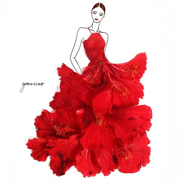 Hoa dâm bụt với sắc đỏ nồng nàn, quyến rũ.