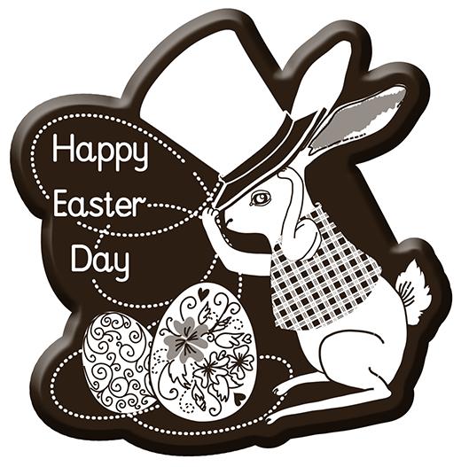 """Dịp lễ 30/4 và 1/5 năm nay lại trùng vớilễ Phục Sinh, nếu bạn là một người theo đạo Thiên Chúa thì chắc chắc không thể bỏ qua những chiếc bánhchocolate ngộnghĩnh với dòng chữ """"Happy Easter Day""""."""