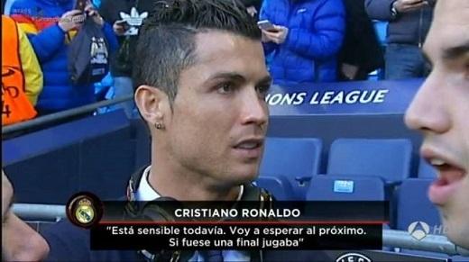 Ronaldo cho biết bản thân chưa hồi phục chấn thương.Ảnh chụp màn hình.