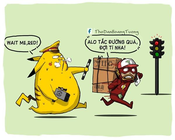 Tình hình giao hàng ở Việt Nam bây giờ căng lắm, không có anh Flash nhúng tay vô là không xong đâu.(Ảnh: Nhà Thổ)
