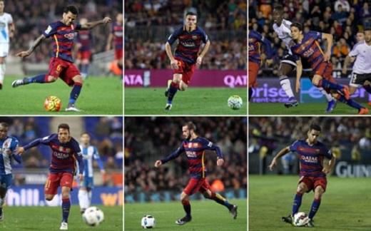 Những Alves, Vermaelen, Bartra, Adriano, Aleix và Douglas đều có thể phải rời Nou Camp