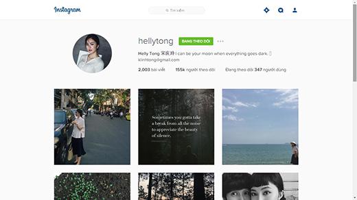 Insta của Helly đã cán mốc hơn 100 ngàn lượt theo dõi. (Ảnh: Internet)