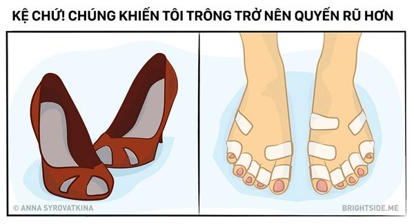 Nhiều bạn nam cứ bảo đau chân đừng cố đi giày cao gót nhưng ai quan tâm chứ!