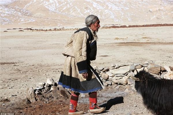 Ông Gaysto năm nay 55 tuổi. Ông và người bộ tộc sống theo kiểu cổ xưa, với những căn lều bằng da trâu yak và việc chăn thả gia súc.