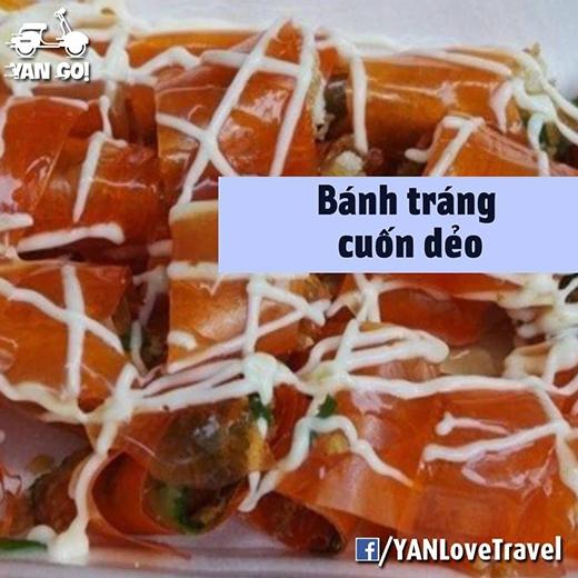 Bánh tráng cuốn dẻo ở đây không giống ở Sài Gòn đâu! (Ảnh: Internet)