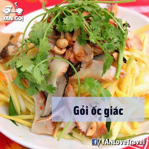 Gỏi ốc giác là một trong những món đặc trưng ở miền Trung, đặc biệt là Phan Thiết. (Ảnh: Internet)
